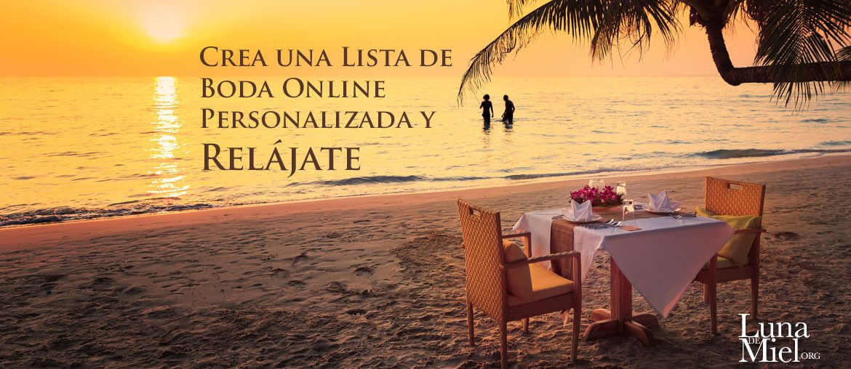 Crea una Lista de Boda Online Personalizada y Relájate